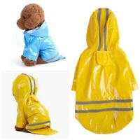 Puppy Cat  Jacket Hooded Raincoat Waterproof Pet Dog Rain Coat Outdoor Clothes