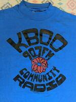 KBOO Community Radio Vintage 80's Hanes T Shirt, Portland, OR, Rose Graphic, S