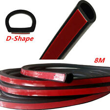 "314"" 8M Big D-Shape Strip Trim Rubber weatherstrip Car Door Window EPDM Sealing"