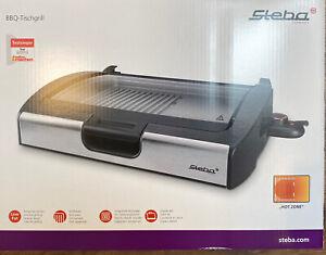 Steba VG200 Elektro Tischgrill Druckguss mit Glasdeckel 2200 Watt 58x38x11CM