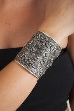 Metal BoHo Heavy Antique metal gauntlet Ethnic bohemian gypsy boho bracelet