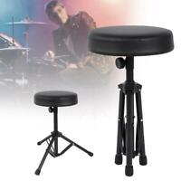Drum Throne Padded Seat Drummers Stool Stand Chair Percussion Hardware Black
