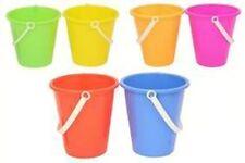 Beach Sand Toys 17Cm Neon Bucket - Colour Vary