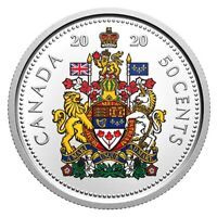 2020 Canada 50 Cents 99.99% Pure Silver Half Dollar Coloured Proof Coin