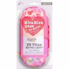 New Cyber Kira Kira Case Twinkle Case For PS Vita PCH-2000 Pink Cover