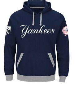 Majestic MLB New York Yankees Third Wind Baseball Hoodie New Mens Big Sizes $75