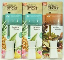 Enviroscent Bed & Bath Sticks - 2 Aromas, Paradise Breeze & Amber Woods, 3 Pack