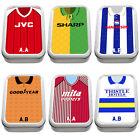 Personalised Retro Football Shirt Tobacco Tin 2oz Baccy Pill Box Mens Gift VS