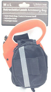 M&L Retractable Dog Leash Accessory Bagw/ Reflective Strips Fits Medium & Large