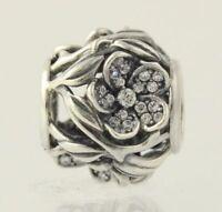 New Pandora Bead Charm - Sterling Silver Mystic Floral Clear CZ 791419CZ ALE 925