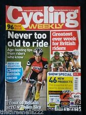 CYCLING WEEKLY - NEVER TOO OLD TO RIDE - SEPT 16 2010