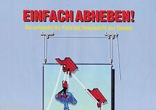 Poster K&M Fahrradlift ca. 1991 (König & Meyer) - bitte lesen!! POSTER!!!