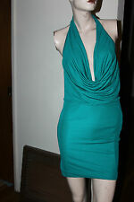 bebe CINCHED FRONT HALTER DRESS SIZE S