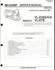 Sharp Original Service Manual für 8mm Camcorder VL-E 30S und VL-E 7E