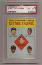 1963 Topps # 2 Mickey Mantle Psa 6 Ex-Mt Al Batting New York Yankees