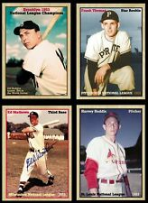 Lot of 4: '53 MVPs & Rookies Gil Hodges, Ed Mathews, Harvey Haddix, Frank Thomas