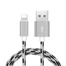 Apple iPhone Lightning to USB Cable Charger  & Data Transfer 6ft Braided Lt Grey