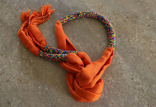 Elegant Handmade Multi beaded Ladies Style Tassel Scarf Shawl headgear ORANGE