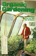 1980 Organic Gardening Magazine: A Solar Greenhouse- Food All Year Round/Heat
