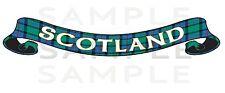 XLarge Printed Scotland Tartan Scroll Exterior sticker, Truck Car Van