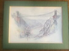 Clifton Suspension Bridge Picture Print green border 16x12inches