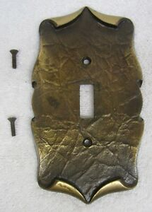 Vtg AMEROCK CARRIAGE HOUSE Electric Light SWITCH COVER PLATE 9081-I Antique Gold