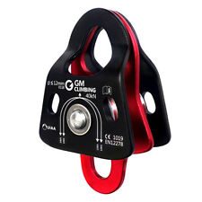 Us Stock Ultralight Double Pulley 40kN Bearing Climbing Rescue Hauling Ce Uiaa