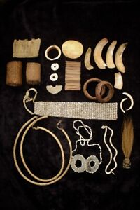 Group of Old Wealth Objects / Personal Adornment - Highlands Papua New Guinea