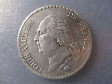 FRANCIA LUIS XVIII 5 FRANCS 1823 A  ESCASA