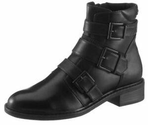 TAMARIS Echtleder Stiefelette Damenschuhe Basic schwarz black Gr 37 40 41 NEU