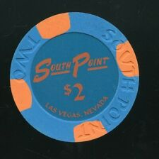 $2 South Point Rare UNC Drop Chip Las Vegas Casino Chip FREE SHIPPING & AIRTITE