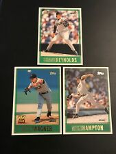 1997 Topps #22 #366 #430 BILLY WAGNER, MIKE HAMPTON, SHANE REYNOLDS Astros Lot 3