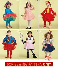 SALE! SEWING PATTERN! GIRL HALLOWEEN COSTUME! SIZE 1/2-4! ANGRY BIRD~SUPERHERO!