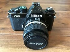 Nikon FM2n Black Well Used with 35mm f/2.8 AIS A-is Lens New Seals Works Great