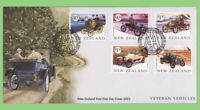 New Zealand 2003 Veteren Vehicles set on First Day Cover
