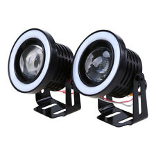 "2X 3"" Car Angel Eye COB Halo Ring LED DRL Projector Len Fog Driving Light Lamp"