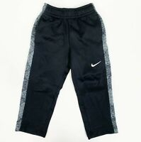 Nike Toddler Boys Dri Fit Athletic Sweatpants Black Gray Size 2T