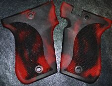 Phoenix Arms HP22 HP25 pistol grips red and black swirl plastic