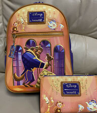 Loungefly Disney Beauty & The Beast Ballroom Scene Mini Backpack & Wallet NWT 💥