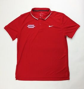 Nike Eastmont Wildcats Team Performance Dry Tennis Polo Men's L Red CJ1537-658