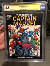 """MARVEL GRAPHIC NOVEL #1 CGC SS VF+(8.5) *SIGNED BY JIM STARLIN* """"DEATH"""" OF CAP!!"""