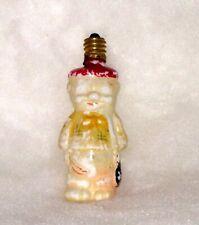 Vtg Christmas Figural Bulb Pig In Jacket Milk Glass Light Japan Non Working C-7