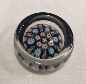 Gorgeous Caithness Art Glass Trinket Dish Paperweight: Millefiori