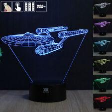 Star Trek USS Enterprise 3d Acrylic LED Night Light 7 Color Table Desk Lamp Gift 3