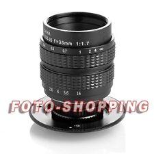 OBIETTIVO FUJIAN 35MM F1.7 NIKON1 LENS CCTV PASSO-C FOTOCAMERAN1 J5 AW1 V3 1.7