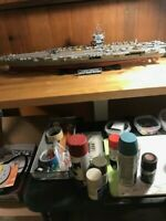 1/350 SCALE CONSTRUCTED MODEL OF TAMAYIA USS ENTERPRISE