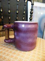 Mug Tasse en Céramique Signée Cloutier era Jouve Capron anse en bois