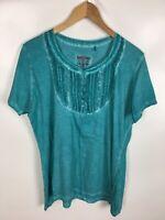 ZONE ONE T-Shirt, grün, Größe 42, 100% Baumwolle