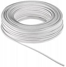 50m Zwillingslitze 2x 0,75mm² Kabel weiss 2-adrig 100% CU Kupfer