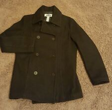 Woman's XS Old Navy Medium Length Pea Coat Double Breasted, Quilted Lined Wool